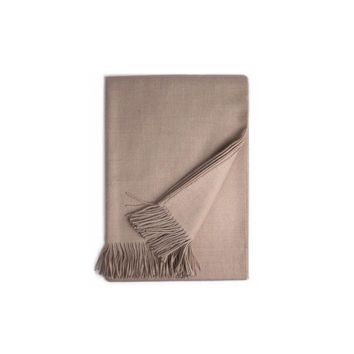 Almond Baby Alpaca Throw