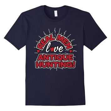 Real Men Love Antique Hunting T-Shirt Happy Wife Happy Life