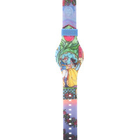 Disney Beauty And The Beast Stained Glass Rubber LED Watch