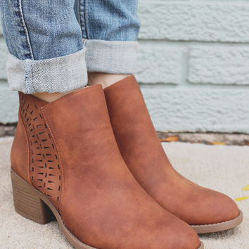 Out of Sight Booties - Cognac