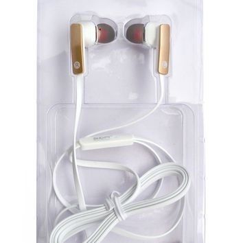 Wired Noise Cancelling Microphone Earphones Mutlifunction Stereo Sound Kids Earbuds for Kids Children Teen Girls Apple Android Laptop PC Compatible Gold White