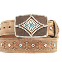 Ariat Women's Western Tombstone Leather Belt