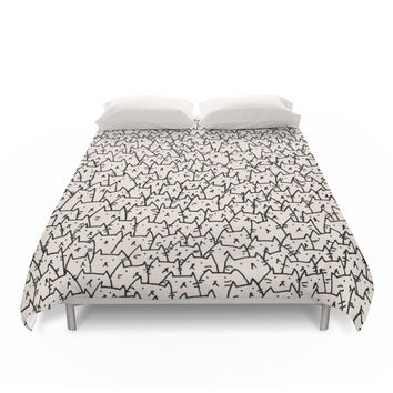 Society6 A Lot Of Cats Duvet Cover