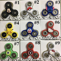 9 Designs Pikachu Hand Spinners Cartoon Fidget Spinners Hand Spinner Luminous Poke Handspinners Decompression Toys XL-A171
