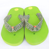 Hemp Flip Flops Lime Green xxs size 2 - 3