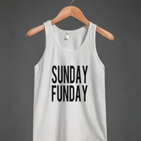 Skreened Sunday Funday Tank Top - Tank Tops - Skreened T-shirts, Organic Shirts, Hoodies, Kids Tees, Baby One-Pieces and Tote Bags