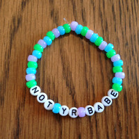 Not Your Babe Bracelet  - Feminist Kitsch
