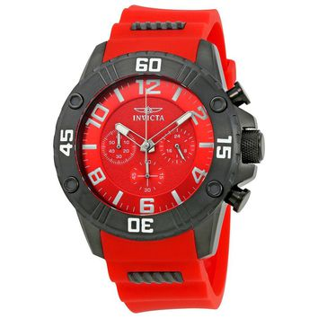Invicta Pro Diver Chronograph Red Dial Mens Watch 22700