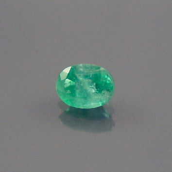 Emerald: 0.51ct Green Oval Shape Gemstone, Natural Hand Made Faceted Gem, Loose Precious Beryl Mineral, Cut Crystal AAA Jewelry Supply 20066