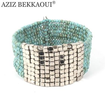 Wide Bracelet Cuff Bangles Beaded Bracelets for Women Multilayer Wrap Bracelet Handmade Love Bracelet & Bangle Bohemian Jewelry
