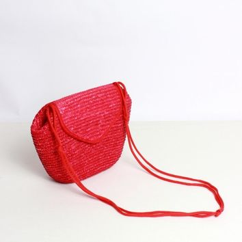 Hot Pink Woven Purse