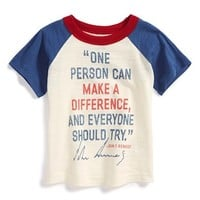 Infant Boy's Peek 'JFK' Colorblock Raglan T-Shirt,