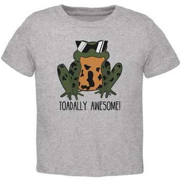 LMFCY8 Toad Totally Awesome Funny Pun Toddler T Shirt
