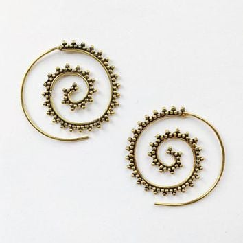Dotted Spiral Earrings