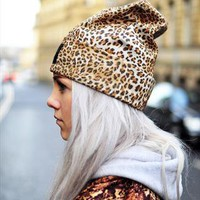 True leopard print Beanie from The Left Bank