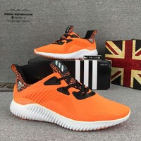 Adidas Alphabounce Fashion Casual Men Running Sports Shoes Orange G-CSXY
