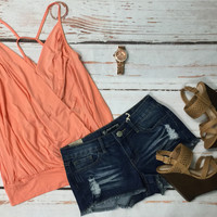 Wrap it Up Top: Peach