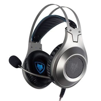ONETOW NUBWO N2 PS4 Xbox One PC Headset Gaming, Stereo Gamer Headphones with Microphone Headset Mic Computer Playstation 4 Xbox 1 Game - Silver
