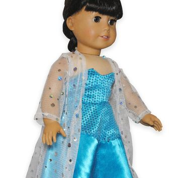 "Doll Clothes Fits American Girl 18"" Inch Outfit Frozen Elsa Dress"