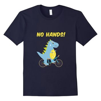 No Hands - Funny T-Rex Dinosaur Bicycle T-Shirt