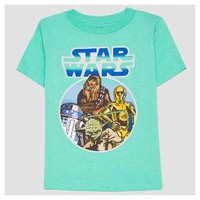 Toddler Boys' Star Wars Short Sleeve T-Shirt - Turquoise