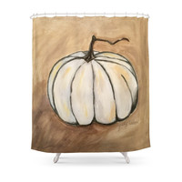 Society6 Ghost Pumpkin Shower Curtain