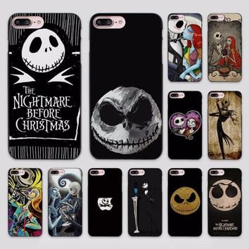 Hot Sale Jack Skellington The Nightmare Before Christmas design hard black Case Cover for Apple iPhone 7 6 6s Plus SE 5 5s 5c 4