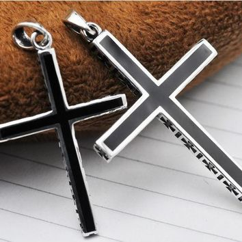 100% Pure 925 silver pendant 2017 new cross pendant Fast and Furious pendant Free shipping  valentine's days gift HYP073