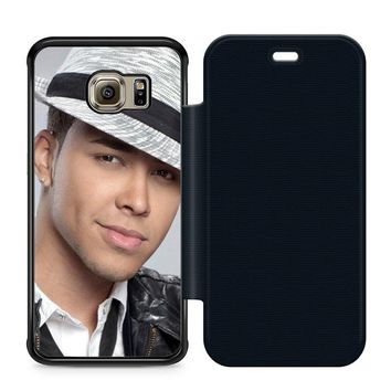 Prince Royce Hat Leather Wallet Flip Case Samsung Galaxy S6 Edge