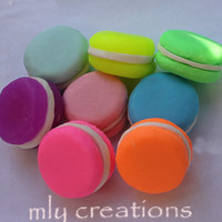 Bridal Shower Favors, Macaroon Soap, Unique Wedding Favor, Paris Party Favors, Shower Gift with Tags, bridal party gifts, table decor, color