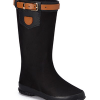 Black Wet Stone Rain Boot