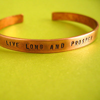 Star Trek Bracelet  Live Long and Prosper  Hand by SpiffingJewelry