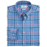 Harbor Plaid Sport Shirt in Cool Water by Southern Tide