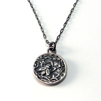 Nectar Antique Button Necklace - Sterling Silver