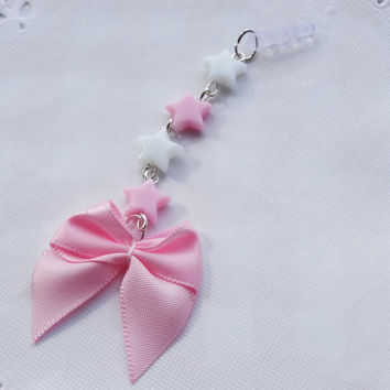 Kawaii Bow Phone Charm - DIFFERENT ATTACHMENT AVAILABLE