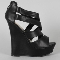 Lynnea-1 Strappy Open Toe Platform Wedge