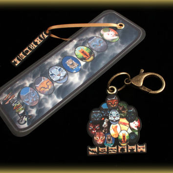 Warrior Cats Bookmark With Clan Fob and Binder Swag Bling Jewelry Fan Boy Girl Stocking Stuffer FREE SHIPPING