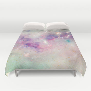 The colors of the galaxy Duvet Cover by Barruf Designs
