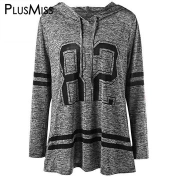 Plus Size 5XL Tunic Hoodie Slim Sweatshirt Spring Autumn 2017 Long Sleeve Loose Hooded Tracksuit Oversized Pullover Femme