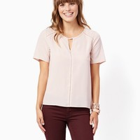 Drea Eyelet Inset Top | Fashion Apparel | charming charlie