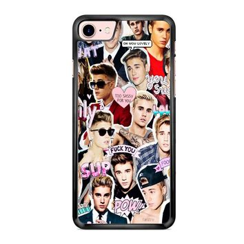 Justin Bieber Collage iPhone 7 Case