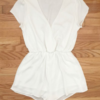 Midnight Hour Romper in White