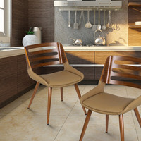 Bentwood Chair with Beige Seat