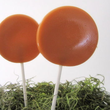 Spiced Caramel Apple Gourmet Lollipops - Pick Your Flavor - Fall Party Favors - Fall Wedding Favors - Thanksgiving Gift