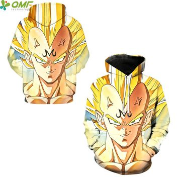 Majin Vegeta Cosplay Hooded Sweatshirts Streetwear Men Skateboarding Hoodies Dragon Ball Z Vegeta Super Saiyan Hooded Tops Hoody