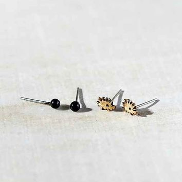 Pet Hedgehog Post Earring Set