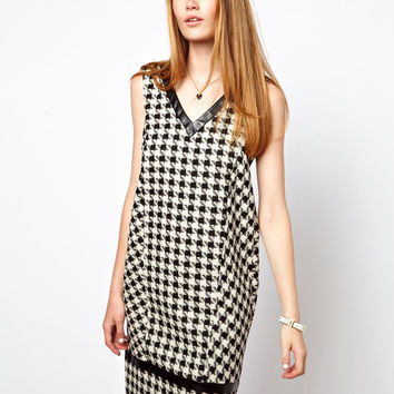 ASOS Shift Dress in Check Print