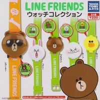 Takara Tomy App Line Friends Character Gashapon Digital Watch P1 5 Figure Set