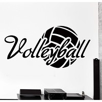 Wall Vinyl Decal Volleyball Motivation Quote Word Sport Home Decor Unique Gift z4329