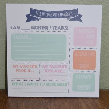 Fall in Love with Moments Square Notepad